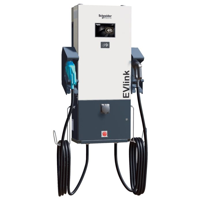EVlink DC fast charge CCS + CHAdeMO + Type 2